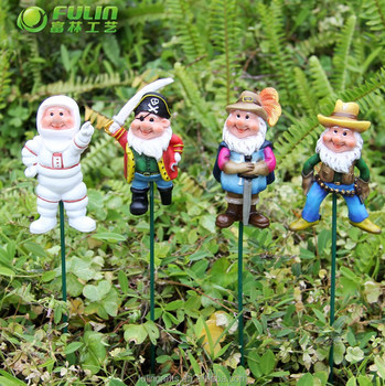 15.4u0026quot; Mini Gnome Resin Garden Stake / Plant Pick