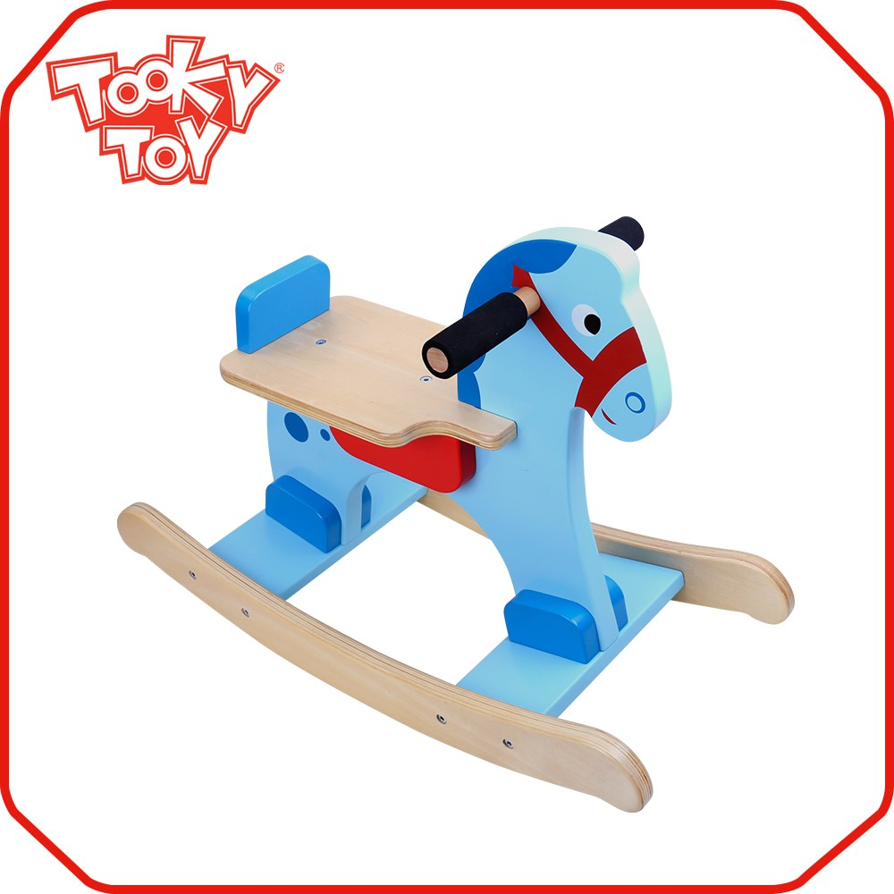 Popular Preschool Children Wooden Toy Rocking Horse