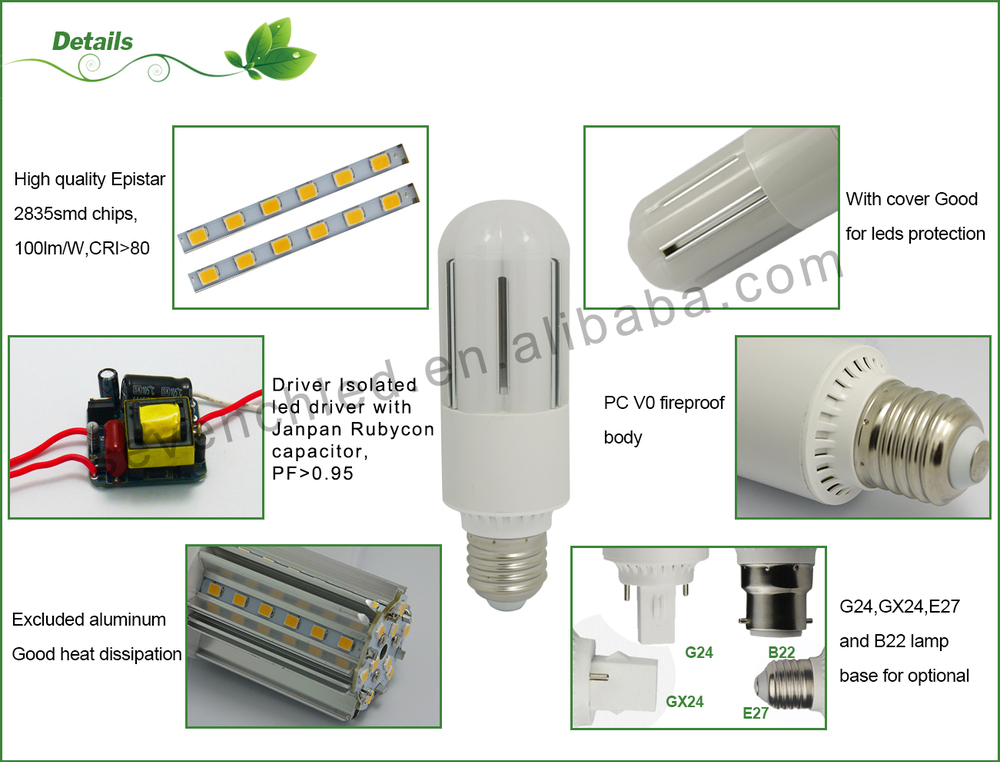 E26 Base T10 Led Tubular Light Bulb 15w Warm White 120 Volts 3000k ...
