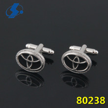 2017 Hot Sale Men'S Accessories Car Logo Cuff Link High Quality Oval Cufflinks Cheap Cufflink