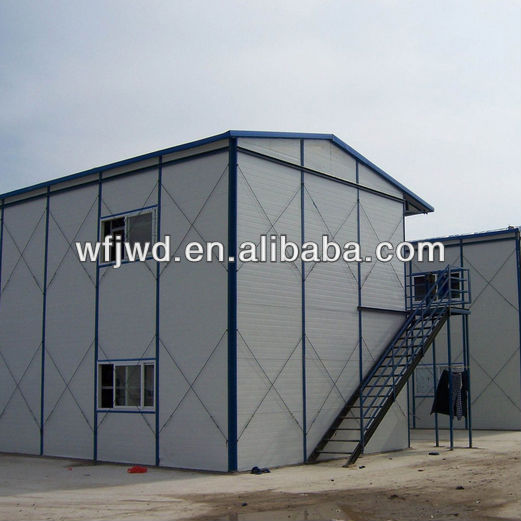 prefabricated house laborers dormitory/office/dining hall/meeting room for large project