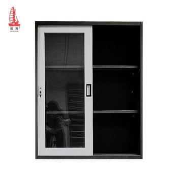 Amovible Noir Verrouillable En Acier Meubles Porte Coulissante Metal