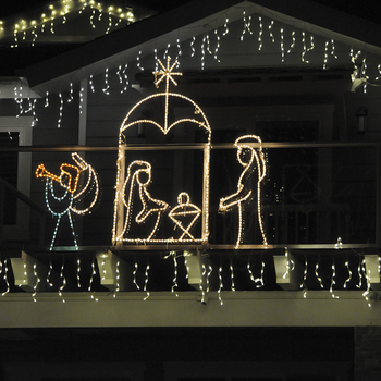 outdoor 2d led nativity scene lights for religious church decoration