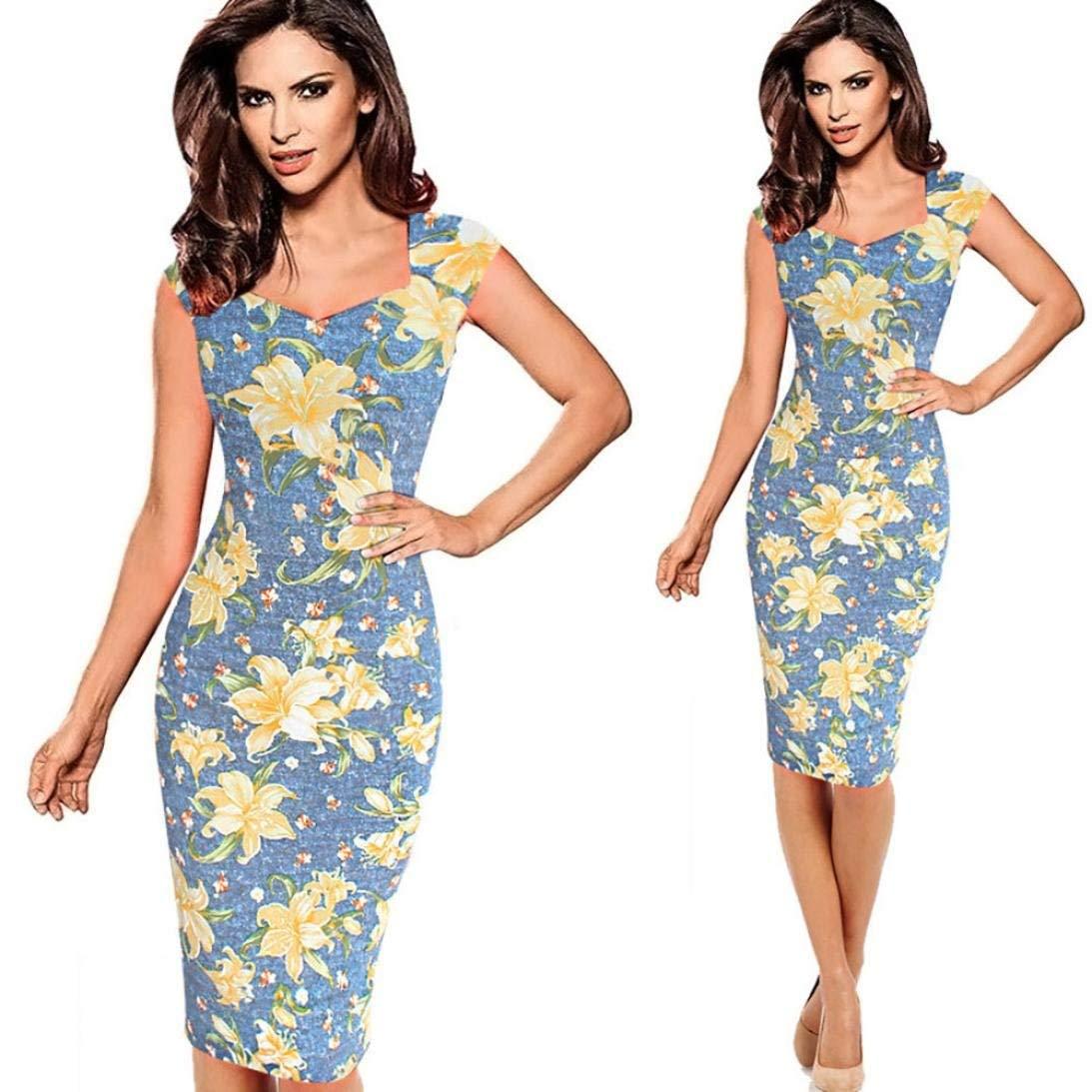 Clearance,Hatoppy Fashion Womens Pregnants Off Shoulder Ruffles Solid Nursing Maternity Dress (L2, Blue)
