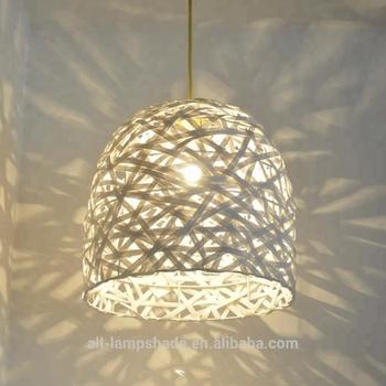 Natural Hemisphere Rattan Pendant Light