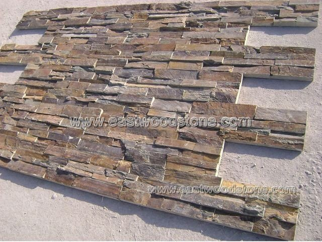 Desert gold stacked stone