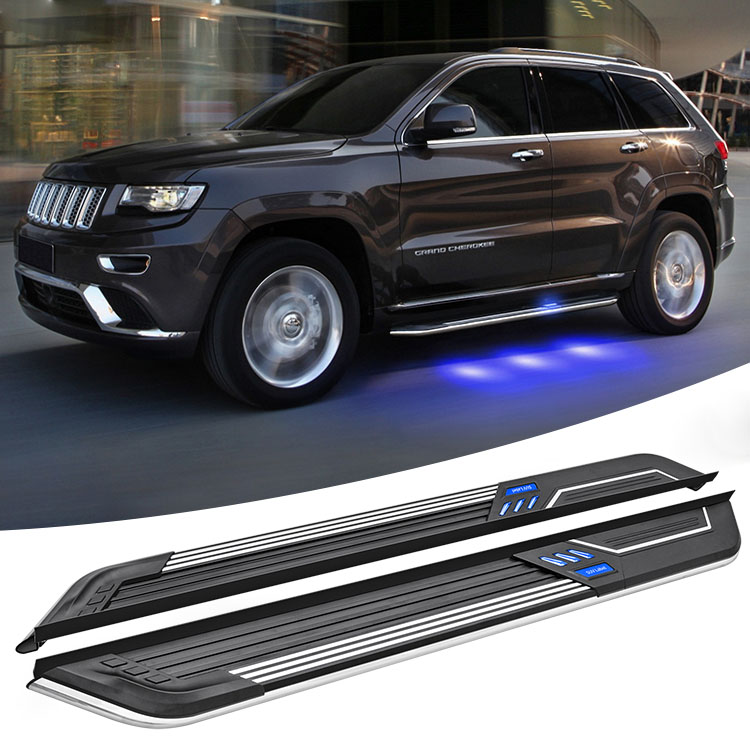 Wholesale high quality 2014 2018 light led side step running board for 2015 2017 jeep grand cherokee 2019 2016
