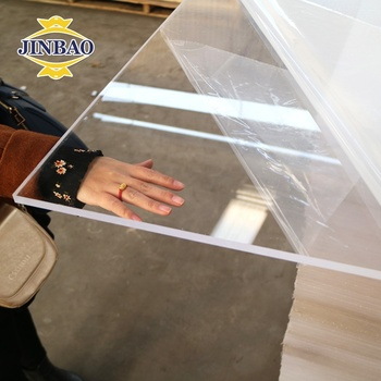 JINBAO 1220x2440/1200x1800mm size Widely Used clear transparent acrylic panel cut to shape