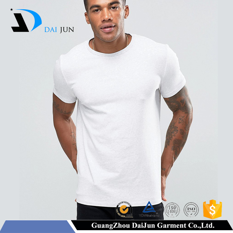 Promotion campaign men cheap cotton plain blank white t shirt below $1