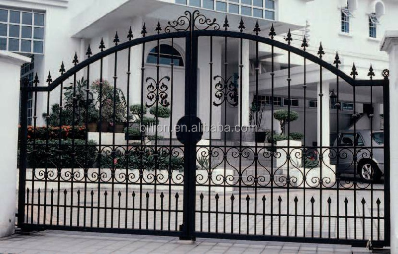 Direct Factory Price Galvanized Iron Metal Gates With Different ...