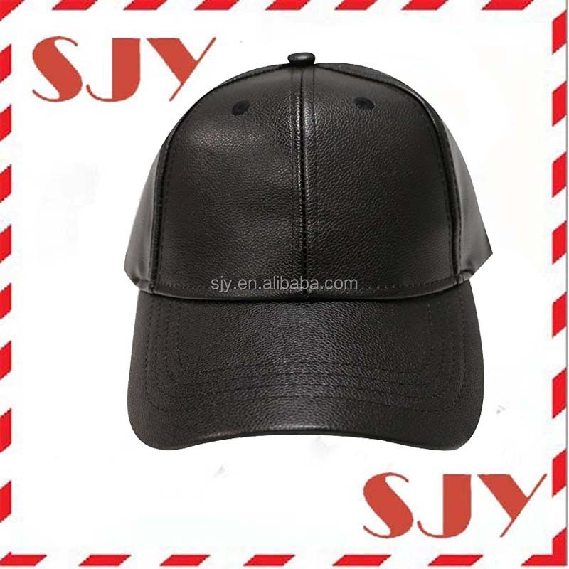 fitted leather baseball hat caps brown cap new arrival custom black