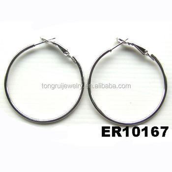 Whole Metal Spring Loaded Hoop Earrings