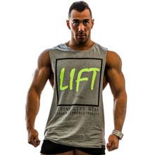 Moderné fitness pánske tričko s originálnou potlačou z Aliexpress