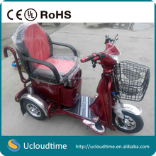 Small three wheels electric tricycle adults/ electric bicycle 48v500w brushless dc motor