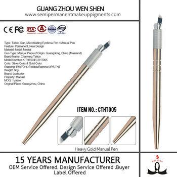 Heavy Gold Microblading Needle Eyebrow Manual Tattoo Pen