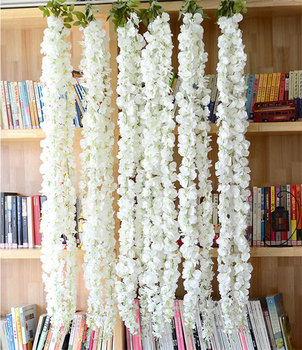 New style 3 branches white artificial wisteria silk flowers