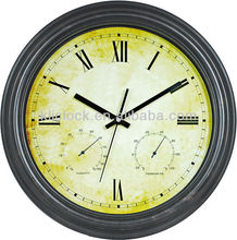 18 inch thermometer wall clock, hygrometer wall clock, WH-6910, home decoration