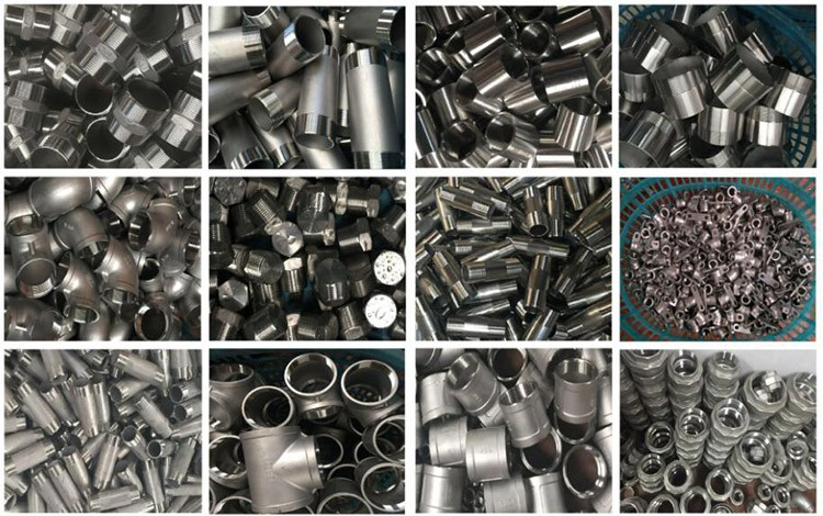Supplier direct thread pipe fittings stainless steel hexagon nipple