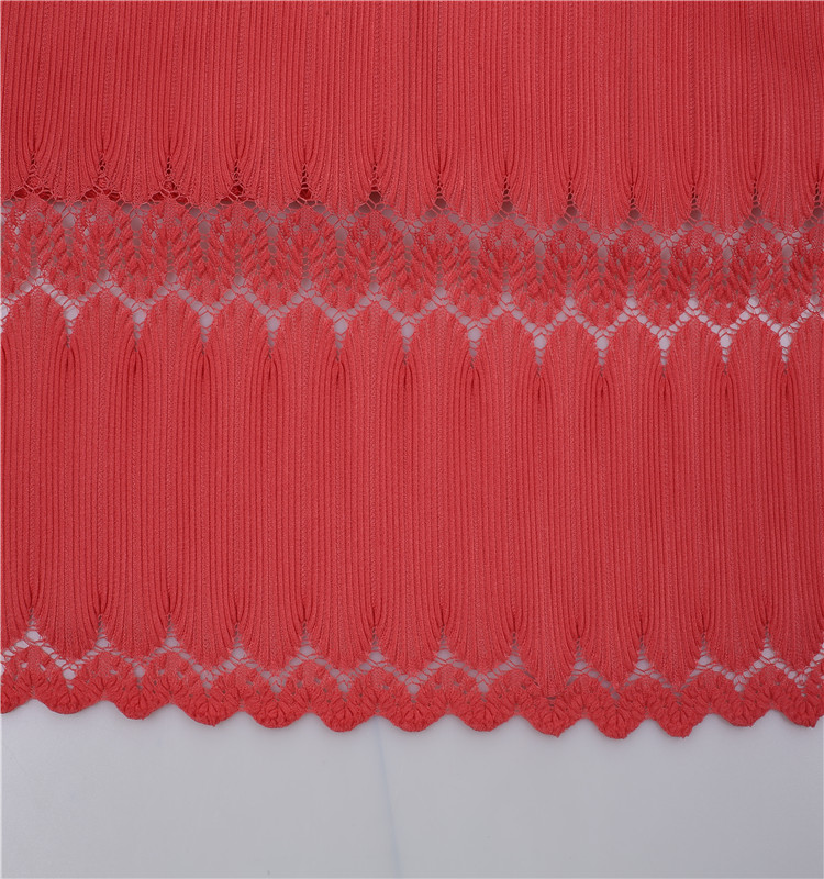 2017 best selling Pleated Ruched 100 Polyester Lace Fabric On Sale