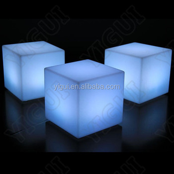 LED Modern Lighting Plastic Led Cube Furniture Chair Led Outdoor Furniture