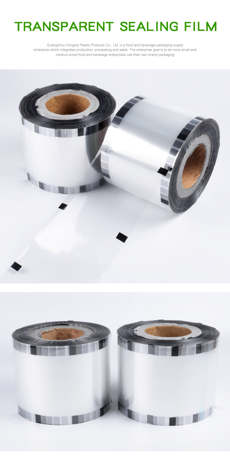 Manufacturer automatic packaging film PP cup sealing film for bubble milk tea juice fruit