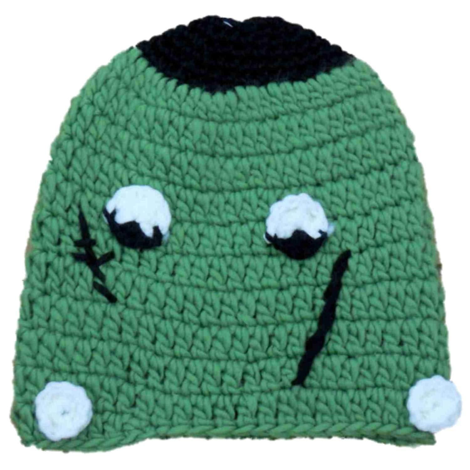 5665c02947c94 Get Quotations · Halloween Womens Green Frankenstein Lumpy Knit Beanie