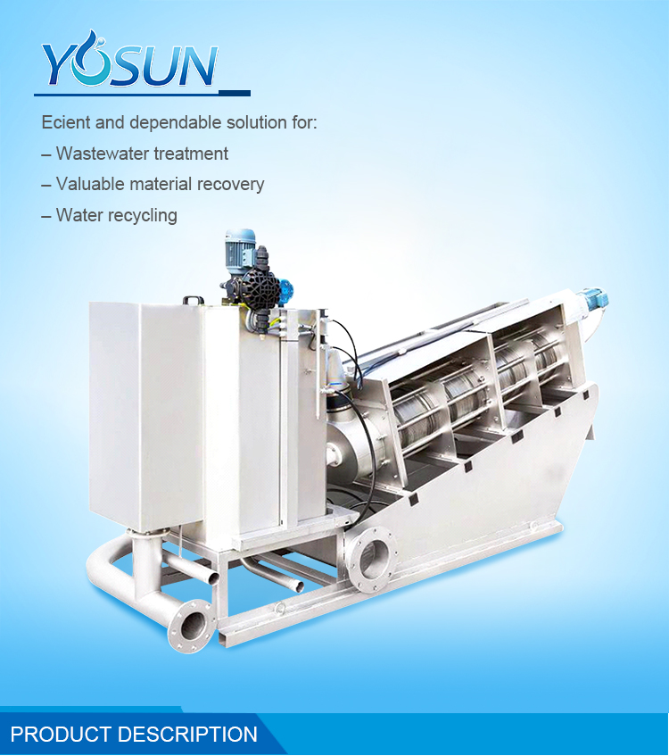 Automatic sludge dewatering machine in water treatment for sale