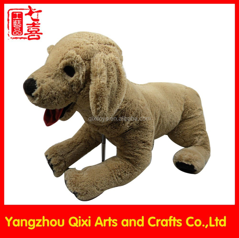 Best selling soft stuffed plush dog toys brown large open mouth stuffed animal dog