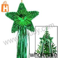 Five-pointed Star Garland for Christmas Decoration Party Decorations, Size of Star: 20 x 20 x 2.5cm (Green)