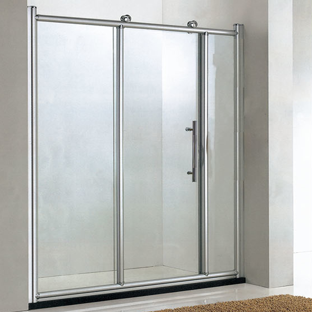 Bathroom 8mm 3 Doors Frameless Tempered Glass Triple Sliding Shower