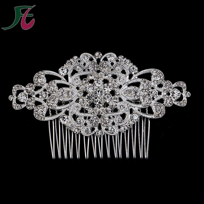 Hot Sale Women Wedding Rhinestone Hair Strengthen Comb