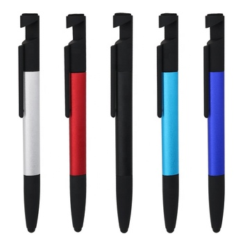 6 in 1 Multi Function Tool Pen With Stylus Screwdriver Rulel Phone Holder Phone Cleaner