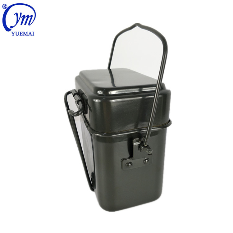 Wholesale Aluminum Germany Style Outdoor Camping Police Army Kit Military Lunch Box Mess Tin Set