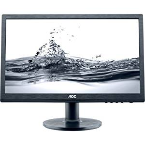 """Aoc Professional E2060swda 19.5"""" Led Lcd Monitor . 16:9 . 5 Ms . Adjustable Display Angle . 1600 X 900 . 16.7 Million Colors . 220 Nit . 20,000,000:1 . Hd+ . Speakers . Dvi . Vga . 18 W . Black . Energy Star, Rohs, Epeat Gold """"Product Type: Computer Displays/Monitors"""""""