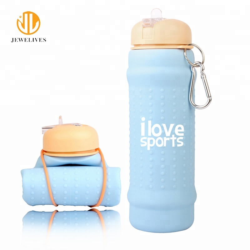 Lege Inklapbare silicone bpa gratis fles water sport fabrikant
