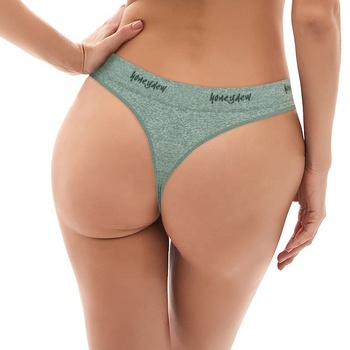 New Arrival Fancy Spot Factory G-string Panty Gray Girls Underwear Ladies Seamless Women Thong Panties