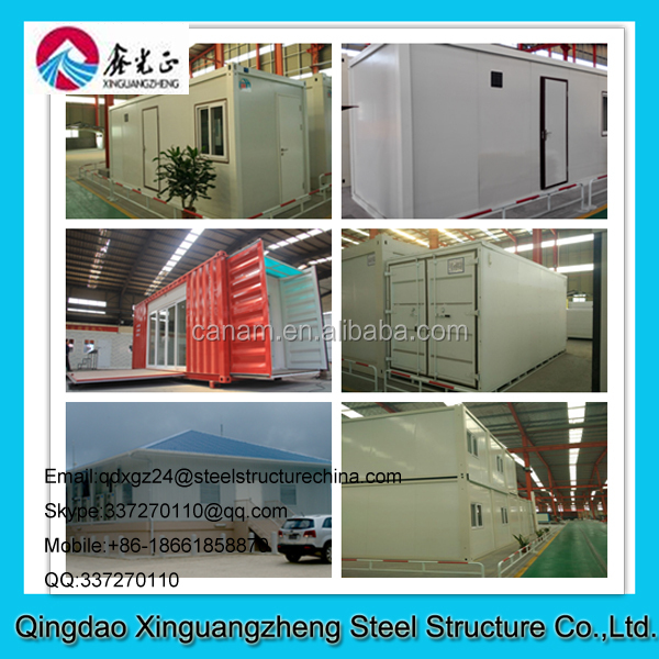 Portable PU Sandwich Panel Light Steel Structure House , Prefabricated Container Buildings