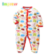 Top quality soft cotton print baby onesie footed romper wholesale