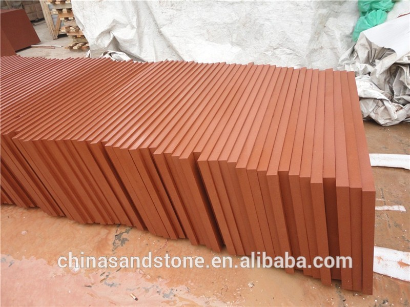 Outdoor Cheap Floor Tiles Red Sandstone Paving Factory Direct Salse Sand Stone