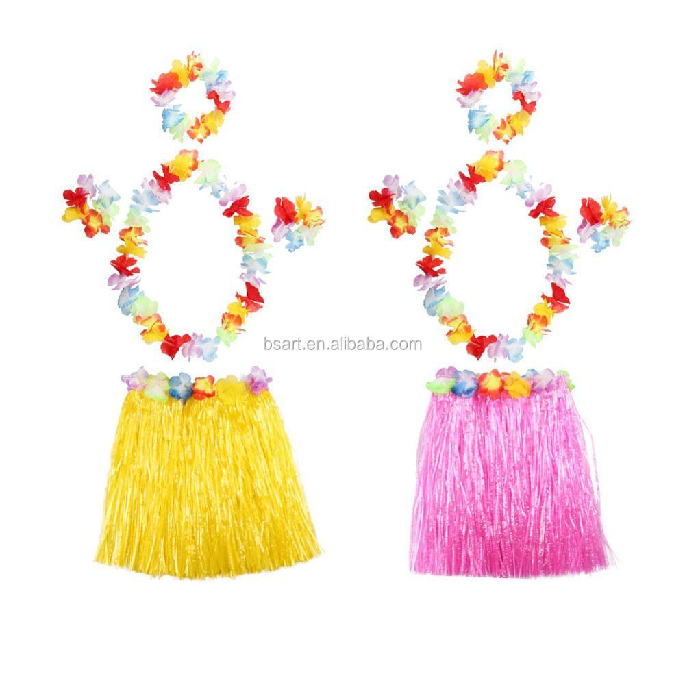 Luau Party Decorations Kids' Hula Grass Hawaiian Skirt Set, View Luau Party  Decorations, BS Product Details from Shaoxing Shangyu Xiaoyue Bosen Art