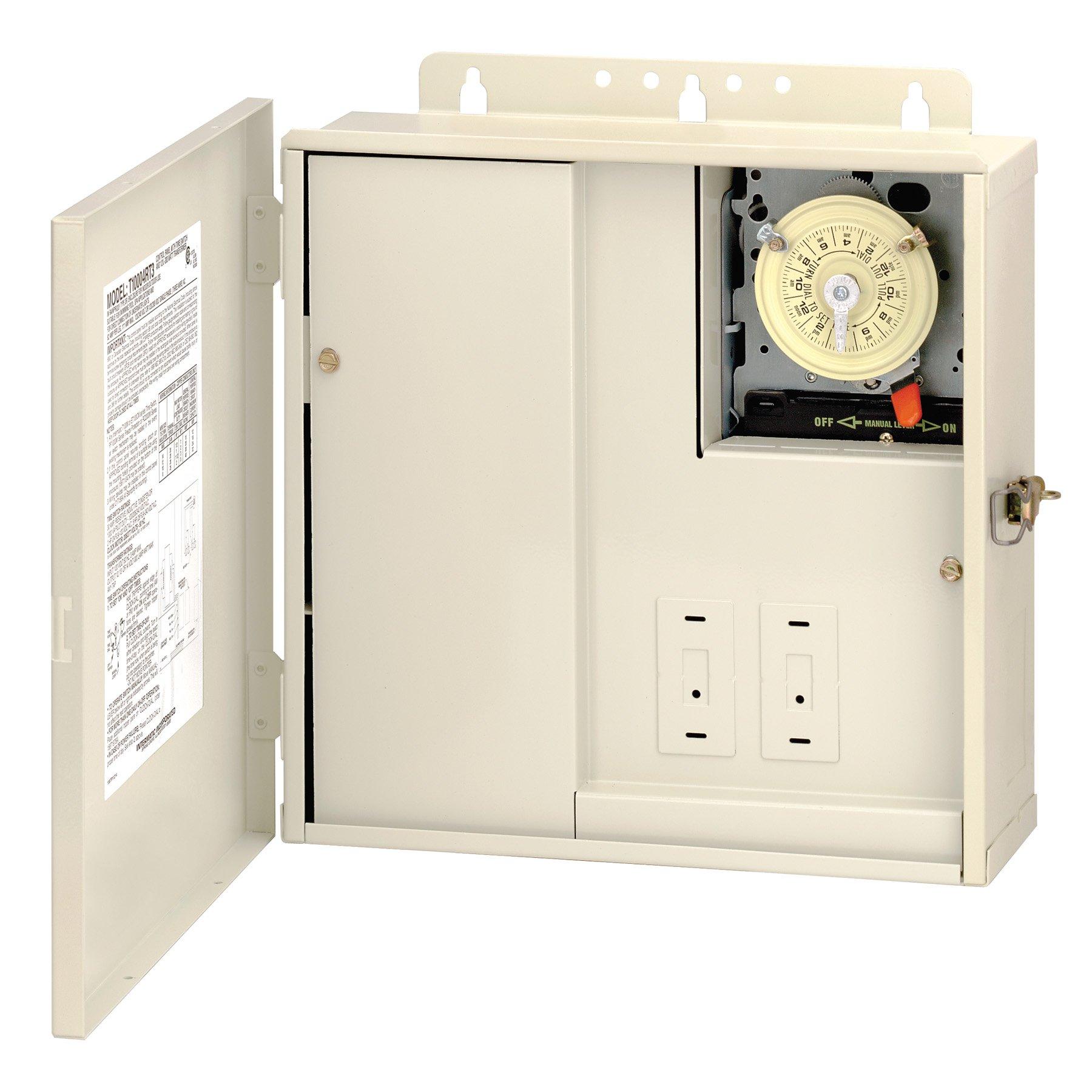 Lighting Components Intermatic T30604R Control Panel Beige Light Bulbs