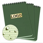 Custom Waterproof Top Spiral Notebook, 4 x 6 inch With Green Cover and Universal Pattern