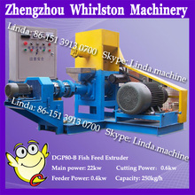 250-400kg hourly floating fish feed plant/ fish feed extruder machine/ baby fish food