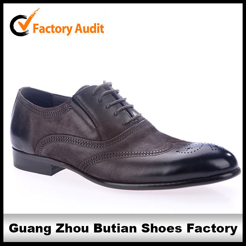 2014 calfskin leather shoes made in china