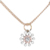 Women fashion alloy crystal jewelry wholesale gold plated pendant necklace