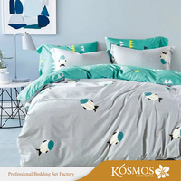 4 piece high quality Bedding fish printed cotton childrens Quilt Covers