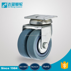202 series total lock one piece cabinet sliding door roller caster wheels