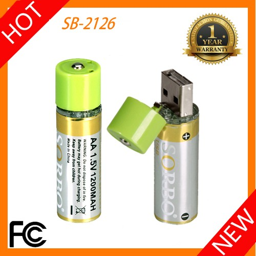 Sorbo 2016 New Usb Rechargeable Dry Battery 1.5v Aa Lithium ...