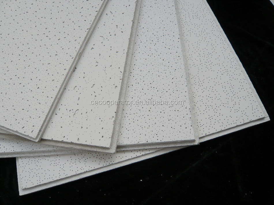Acoustic Mineral Fiber Ceiling Board Thick 12mm 15mm 14mm Etc Size