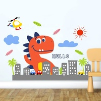 Wall Decal Cute Dinosaur Wall Sticker For Kids Room Decoration